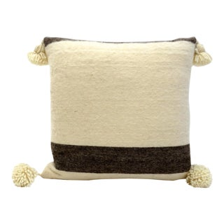 Ivory Moroccan Wool Pillow For Sale