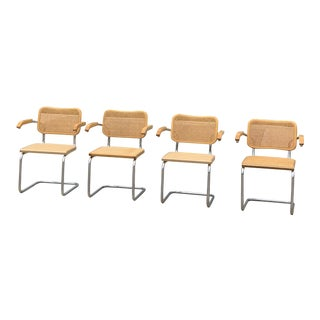 Marcel Breuer S64 Cesca Chairs - Set of 4 For Sale
