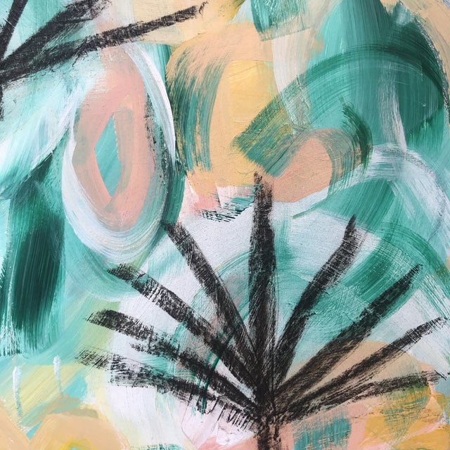 Palm Fronds #1 Contemporary Painting For Sale - Image 4 of 5
