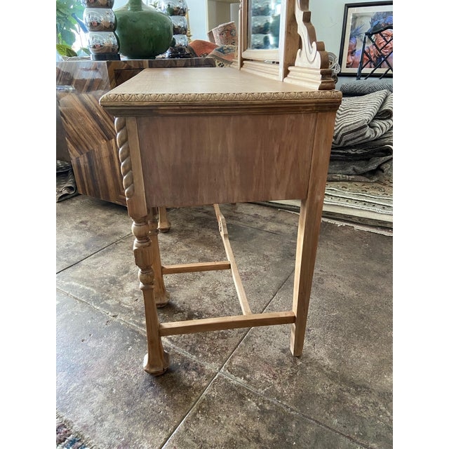 Early 20th Century Vintage Victorian Style Karpen Vanity With Mirror For Sale - Image 5 of 12