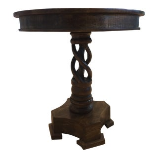 Rustic Crestview Bengal Manor Mango Wood Twist Accent Table