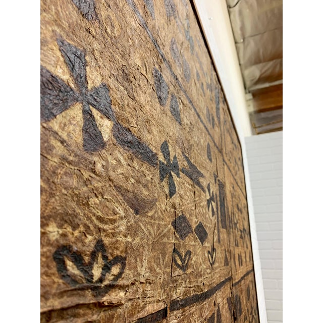South Pacific Bark Cloth Design For Sale In Dallas - Image 6 of 13
