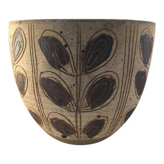 Vintage Art Pottery Mid-Century Vessel For Sale