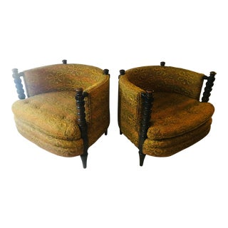 1970s Vintage Schnadig Chairs- A Pair For Sale