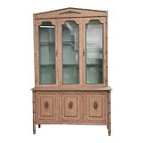 Image of 1940s Neoclassical Style Hollywood Regency China Cabinet For Sale