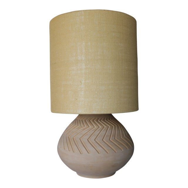Native American Art Pottery Lamp - Image 1 of 11
