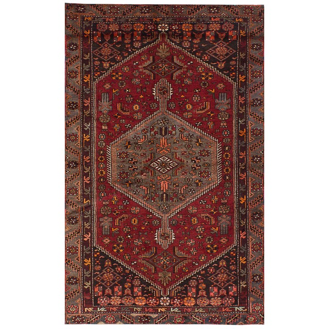 "Hamadan Vintage Persian Rug, 4'6"" x 7'9"" - Image 1 of 2"