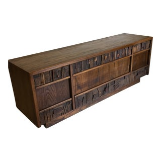 Lane Brutalist Credenza For Sale