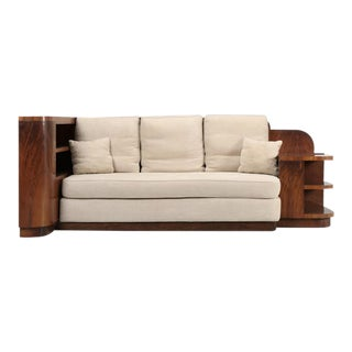French Art Deco Sofa and Queen Size Bed For Sale