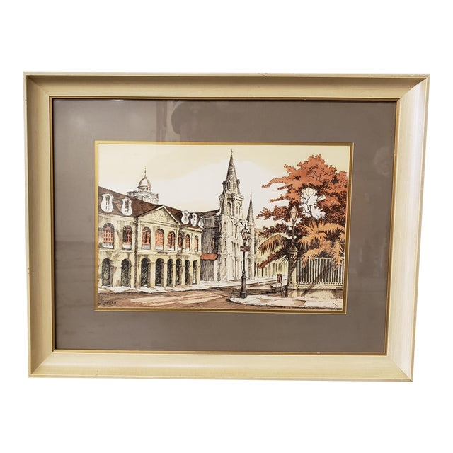Rolland Golden Jackson Square Print For Sale