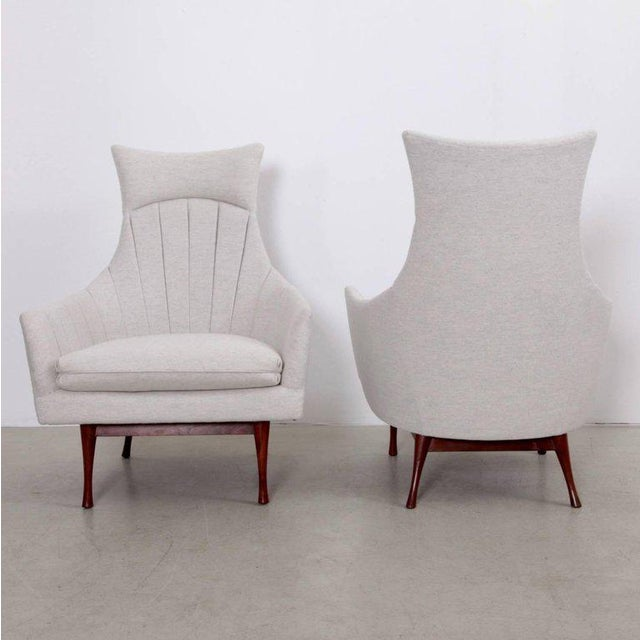 Widdicomb Pair of Paul McCobb Symmetric Group Lounge Chairs by Widdicomb For Sale - Image 4 of 8