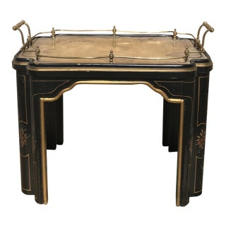 Continental Bronze Tray Table For Sale