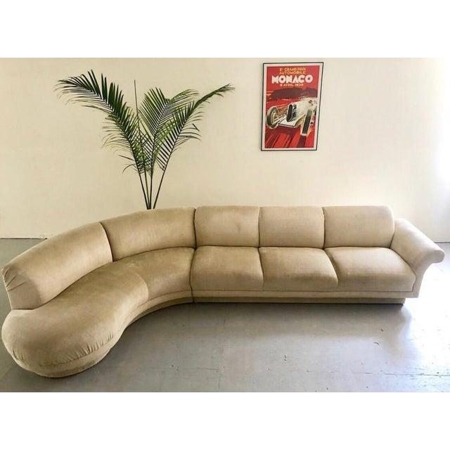 "1980s Vintage Vladimir Kagan Serpentine ""Cloud"" Sofa For Sale In New York - Image 6 of 6"