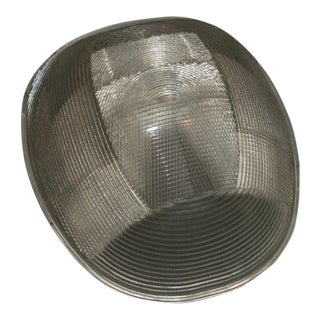 Large Modernist Holophane Ceiling Fixture
