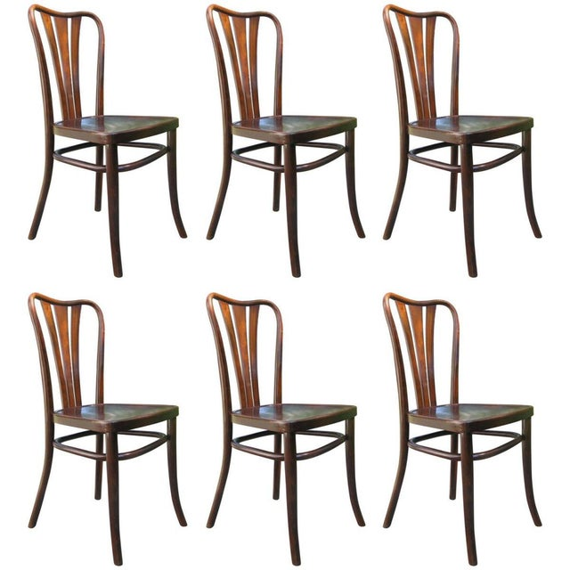 Vintage Dining Chairs by Thonet, 1930s - Set of 6 For Sale - Image 11 of 11