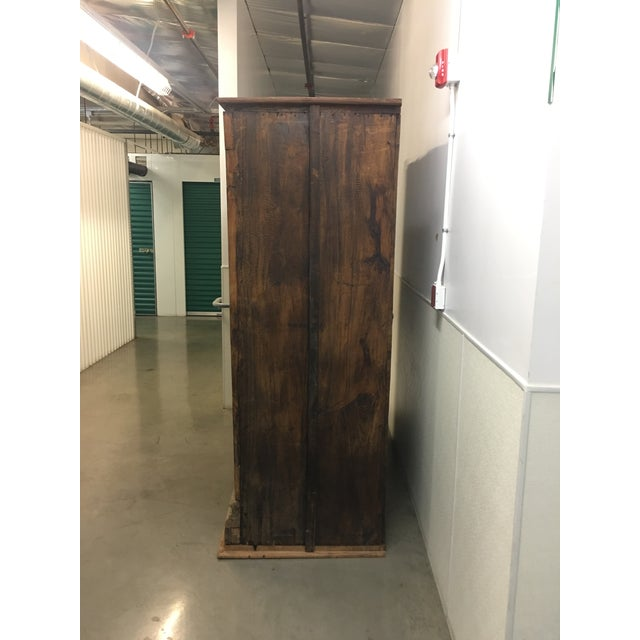 Handmade Antique Wooden Armoire - Image 8 of 9