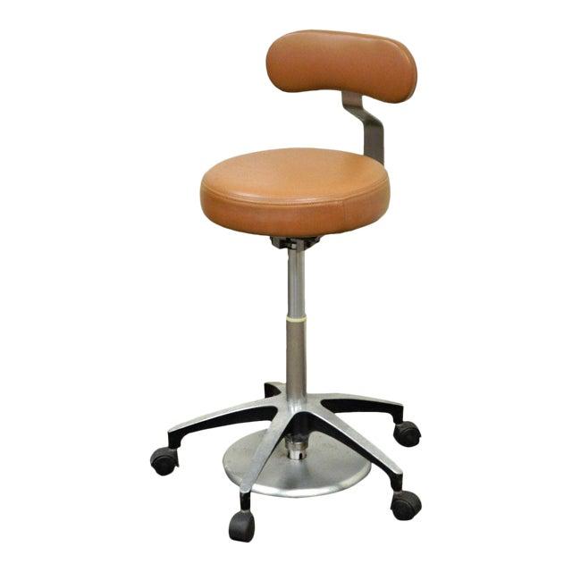 Vintage Mid Century Industrial Modern Adjustable Dental Dentist Chair Stool Seat For Sale