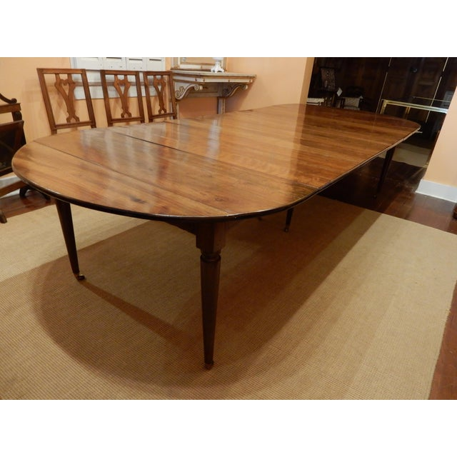 French Walnut Extension Dining Table For Sale - Image 12 of 12