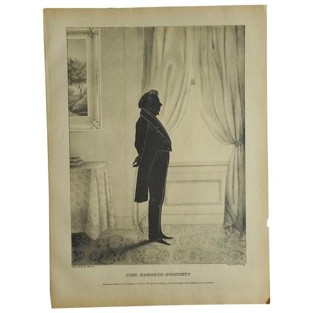 Antique Folio Size Silhouette Lithograph For Sale