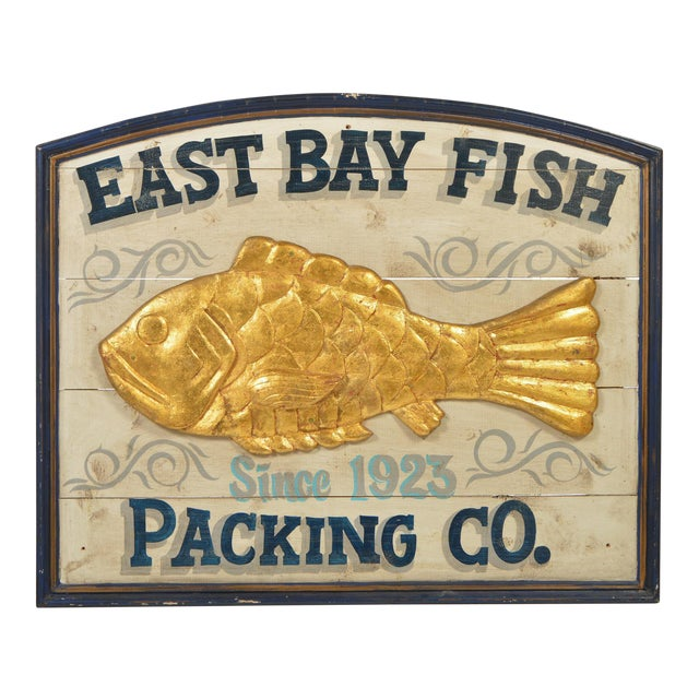 East Bay Fish Packing Company Trade Sign For Sale