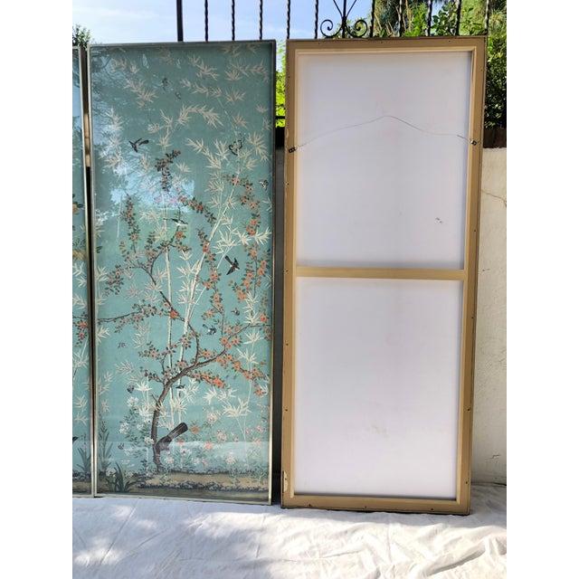 Set Of Four Framed Eastern Eden Iksel Wallpaper Panels