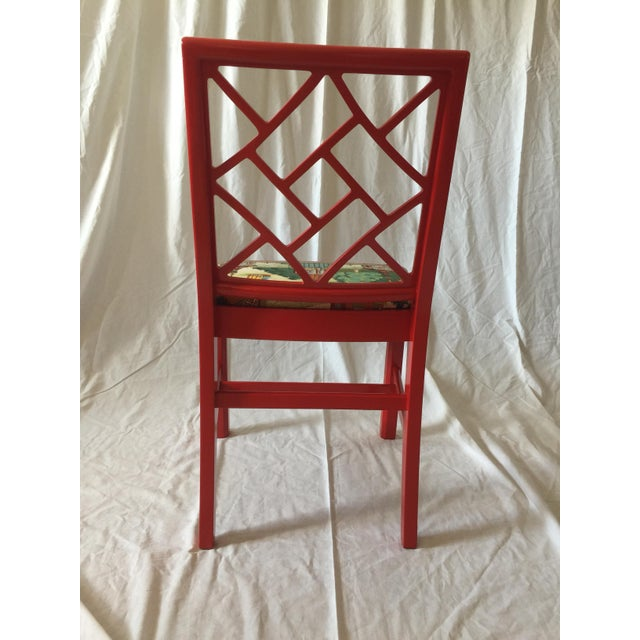 Chinoiserie Chippendale Fret Work Occasional Chair For Sale In Saint Louis - Image 6 of 7