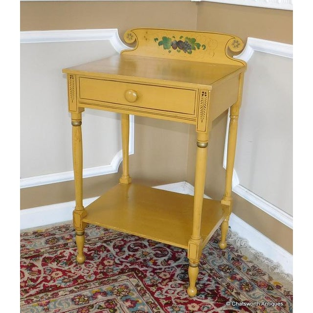 Sheraton Sheraton 19 C. Painted Country Washstand Table For Sale - Image 4 of 9