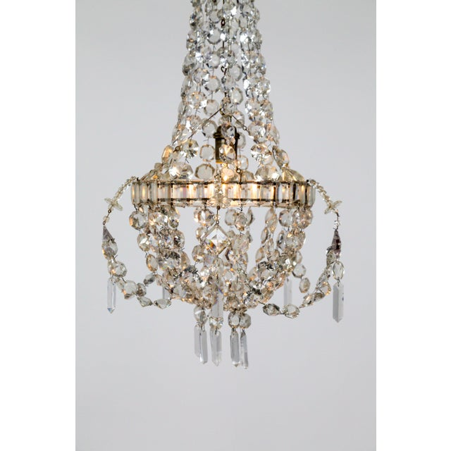 Delicate Crystal & Wire French Regency Tent Chandelier For Sale - Image 9 of 13
