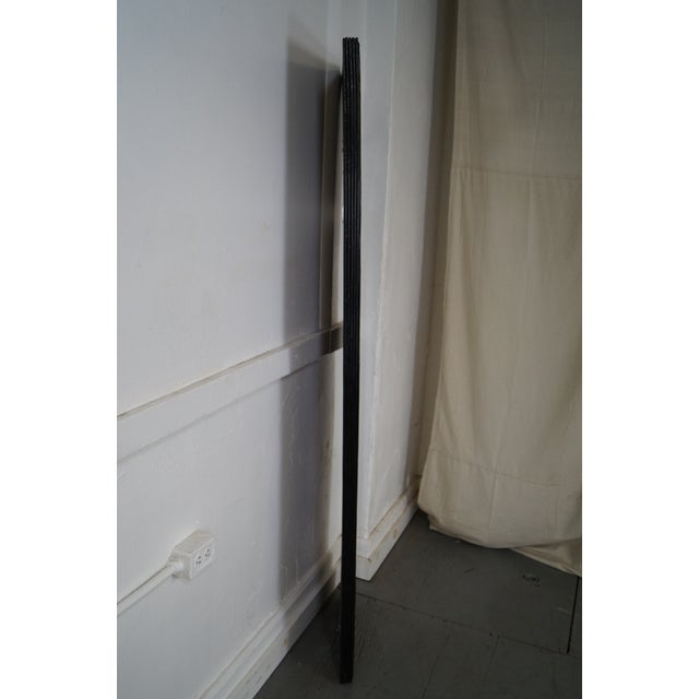 Mid-Century Modern Mid-Century Black Painted Reeded Design Mirrors - A Pair For Sale - Image 3 of 10