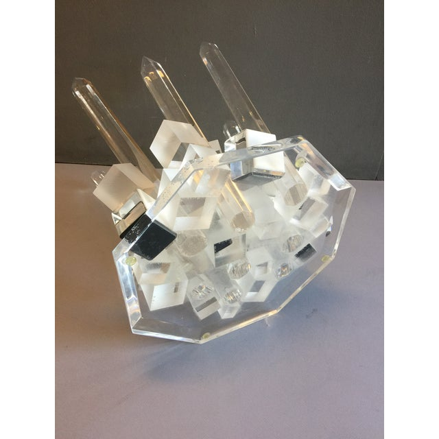 Large Modern Lucite Abstract Quartz/Crystal Shape Magnificent Sculpture For Sale - Image 9 of 13