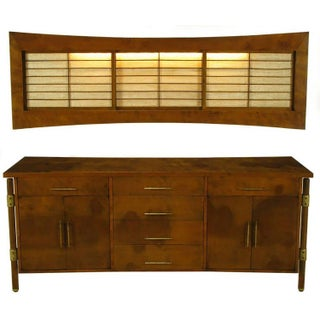 Rare Harold M. Schwartz for Romweber Burled Sideboard With Floating Cabinet Preview
