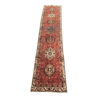 "Vintage Persian Karajeh Runner Rug - 3' x 14'3"" For Sale"