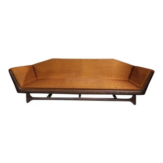 Mid Century Adrian Pearsall Walnut Framed Gondola Sofa For Sale