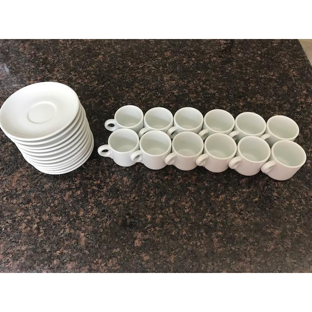 Richard Ginori Vintage Richard Ginori Espresso Cups & Saucers - Set of 12 For Sale - Image 4 of 9