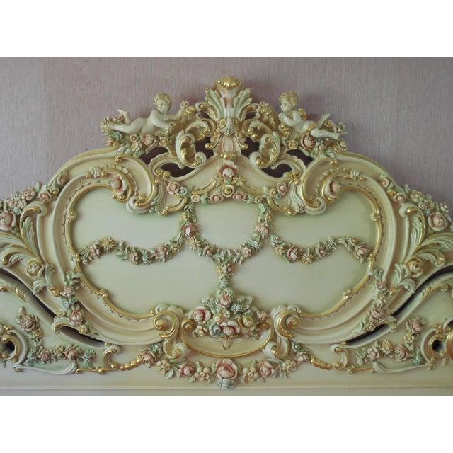 Italian Style Cherub California King Bedframe - Image 3 of 11