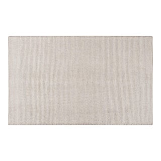 2010s Modern Hand-Woven Beige Wool Floor Rug For Sale