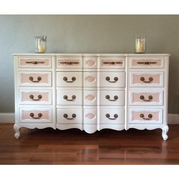 Two Tone French Provincial Mid Century Dresser - Image 2 of 8