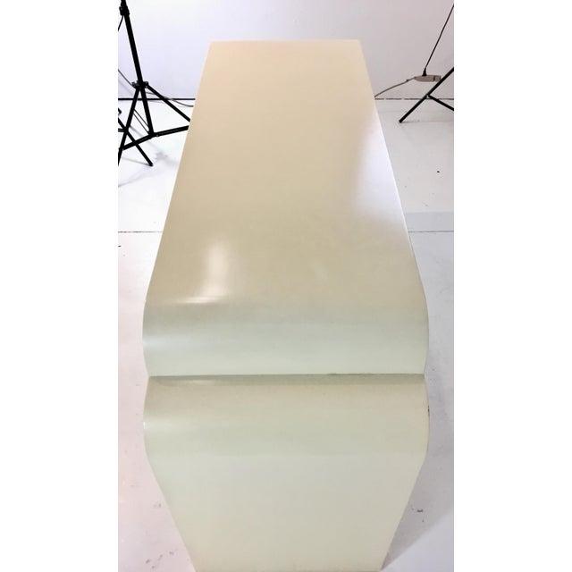Asian Asian Modern Style Celerie Kemble for Henredon Ellsworth Cream Wood Console Table For Sale - Image 3 of 6