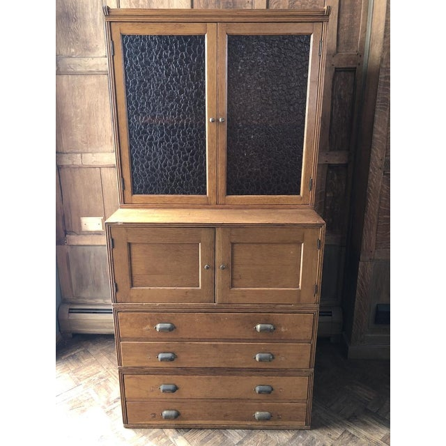 Antique Yawman and Erbe Oak Stacking File Cabinet For Sale - Image 11 of 11