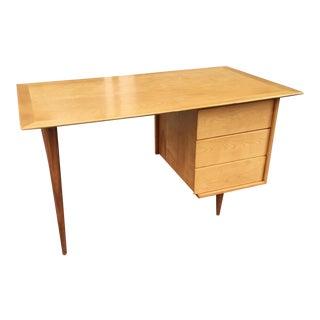 Mid-Century Modern Birch and Walnut Desk For Sale