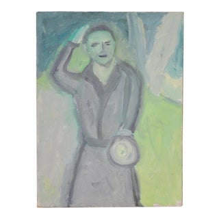 "Arthur J. Krakower ""Uncle Jack, Central Park"" Original Oil on Canvas c.2000 For Sale"