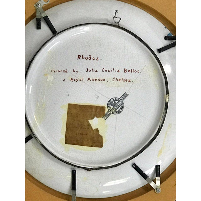 "White Pair of Antique English Grand Tour Portrait Plaques ""Hera & Rhodus"" For Sale - Image 8 of 13"