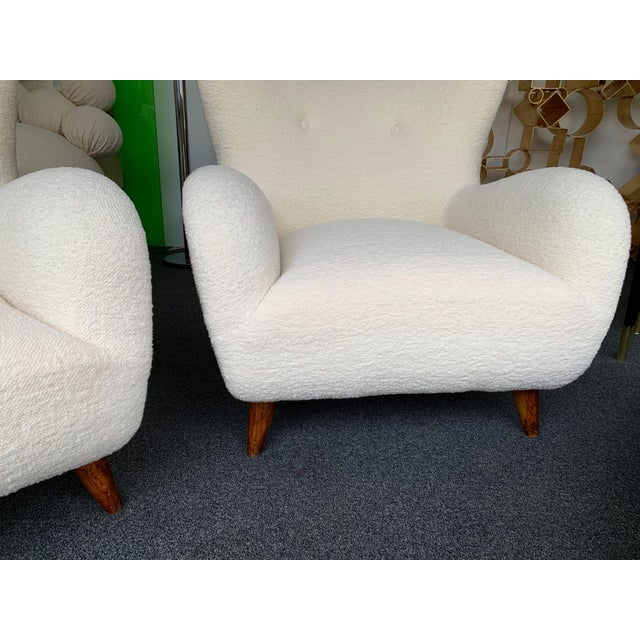 1950s Italian Armchairs by Melchiorre Bega - a Pair For Sale - Image 9 of 13
