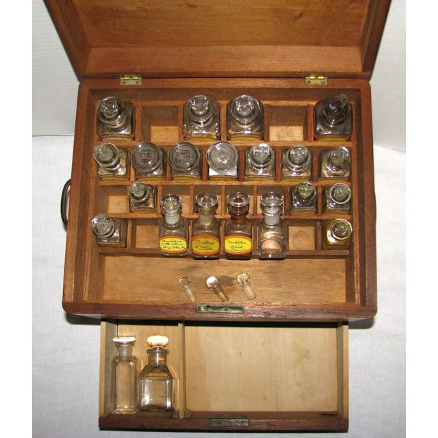 Traditional Antique Doctor's Apothecary Cabinet For Sale - Image 3 of 7