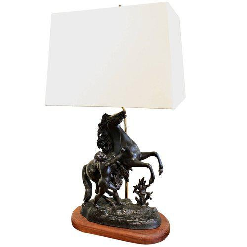 Cheval De Marly (Marly Horse) Lamp For Sale - Image 6 of 6