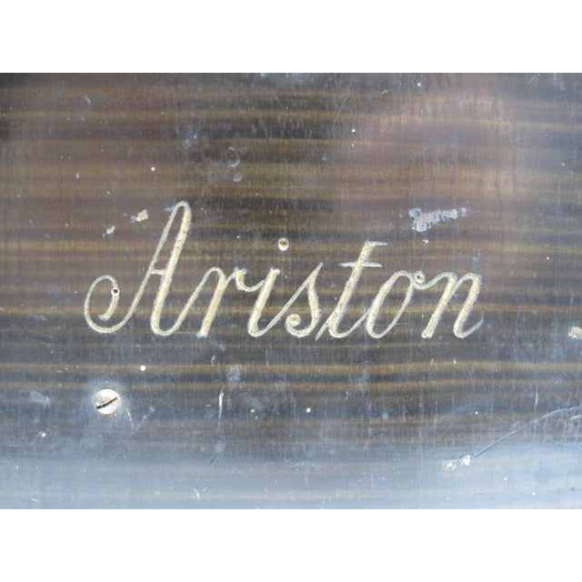 Brown Ariston Organette Music Box Player With Punched Paper Records For Sale - Image 8 of 10