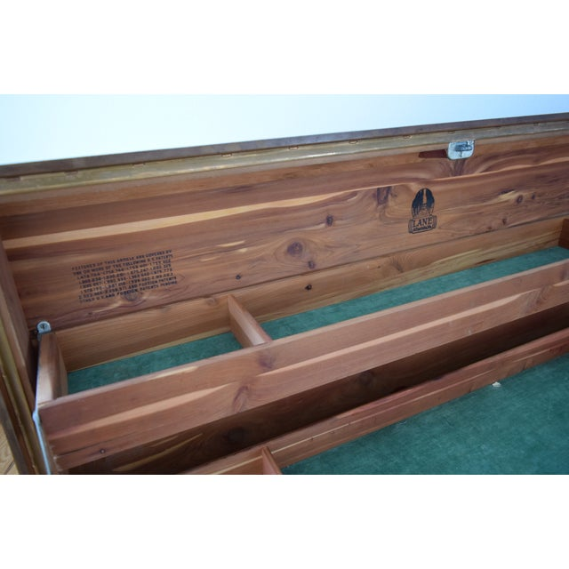 Art Deco Lane Cedar Chest Trunk - Image 9 of 9