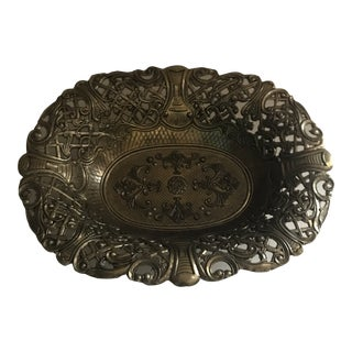 Vintage Italian Decorative Brass Bowl For Sale