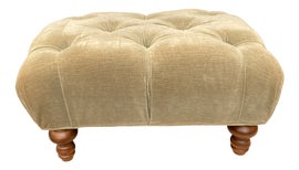 Image of Newly Made English Traditional Ottomans and Footstools