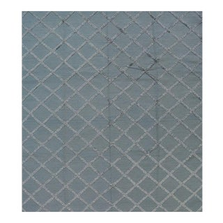 Contemporary Handwoven Gray Wool Rug - 8x10 For Sale